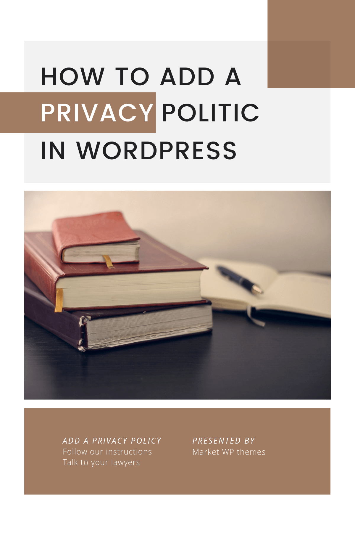 How To Add A Privacy Policy In WordPress