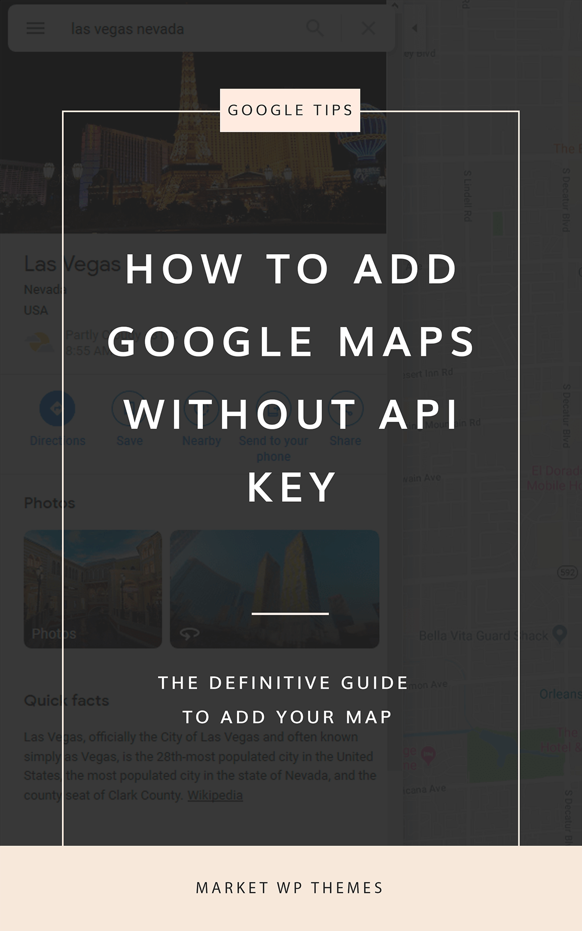 How To Add Google Maps Whitout API Key