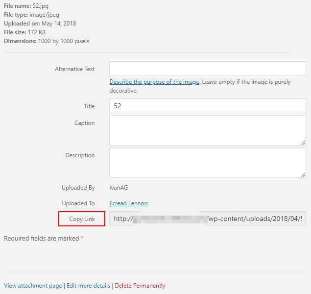 How to Get the URL of Your Images and Galleries in WordPress Step 1