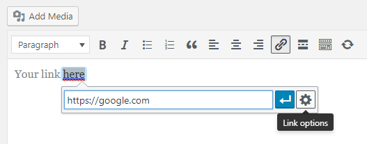 Open External Links In A New Window Or Tab With WordPress Step 5